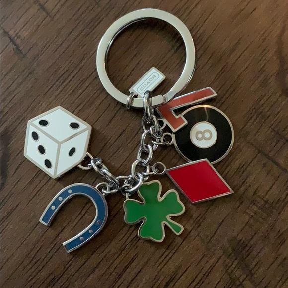 """Coach """"lucky"""" key chain"""